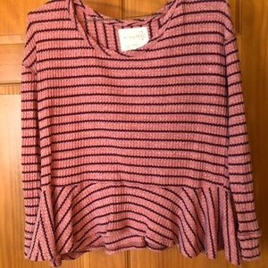 Free People Tops - We the free waffle shirt long sleeve size Small